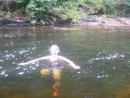 Anna in the river